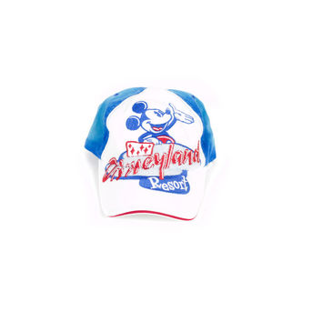 FRESH deadstock disney hat / new with tags / mickey mouse / disneyland / blue and white / baseball cap / embroidered