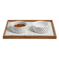 Allyson Johnson Tiny Polka Dots Pet Bowl and Tray