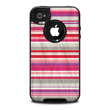 The Vintage Wrinkled Color Tall Stripes Skin for the iPhone 4-4s OtterBox Commuter Case