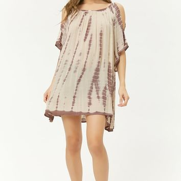 Open-Shoulder Tie-Dye Tunic
