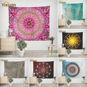 Original yixuan Bedding Outlet Petal Tapestry Floral Printed Boho India Hanging Wall Tapestries 150cmx130cm Wall Decor for Home