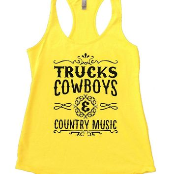 TRUCKS COWBOYS & COUNTRY MUSIC Womens Workout Tank Top