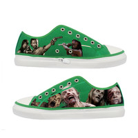 The Walking Dead Zombie woman canvas shoes - Size : US 9 EUR 40 Green
