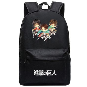 Cool Attack on Titan New Printing Book Bag  Backpack For Girls and Boys Back to School Mens Backpack Bag Student travel backpack H222 AT_90_11