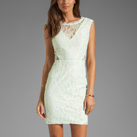 DV by Dolce Vita Trouble Neon Lace Dress in White/Yellow