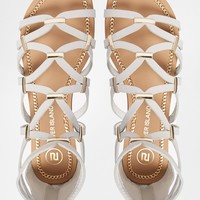 River Island Gladiator Grey Hook Detail Gladiator Flat Sandals