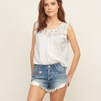 Embroidered Lace Cami