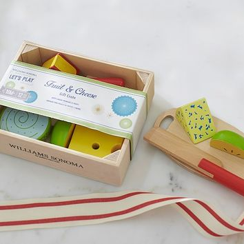 Williams Sonoma Toy Food Crate - Cheese and Fruit