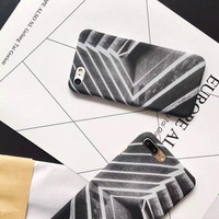 Creative gray line phone case for iPhone 7 7plus 6 6S 6plus 6Splus 1109J01