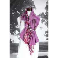 Suede Scarf Rose One of a Kind