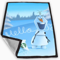 Hello olaf Starbucks Blanket for Kids Blanket, Fleece Blanket Cute and Awesome Blanket for your bedding, Blanket fleece **