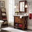 Benchwright Single Sink Console - Rustic Mahogany finish