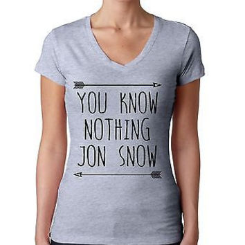 you klnow nothing Jon Snow GOT Women's Sporty V shirt