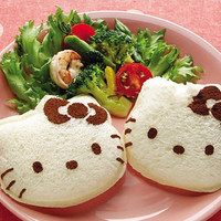 1set Cute Hello Kitty Shape Sandwich Mold Bread Cutter Tool Maker Mold Cutter