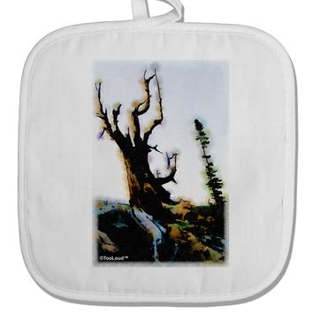 CO Mountain Scenery Watercolor White Fabric Pot Holder Hot Pad by TooLoud
