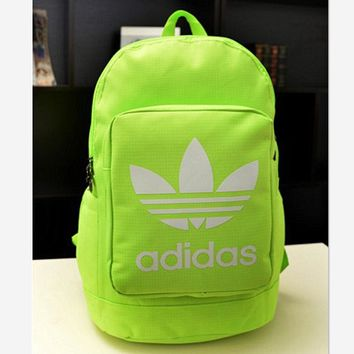 ADIDAS Fashion Hot Women Men Backpack Fluorescence green