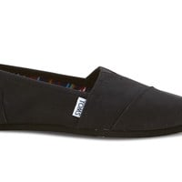 TOMS Black On Black Women's Canvas Classics Black