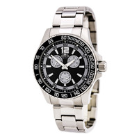 Invicta 7005 Men's Signature II Black Dial Steel Bracelet Quartz Watch
