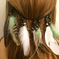 Feather hair extension, clip in hair extension, hair extension, feather hair, feather clip, boho hair, festival fashion, feather headdress