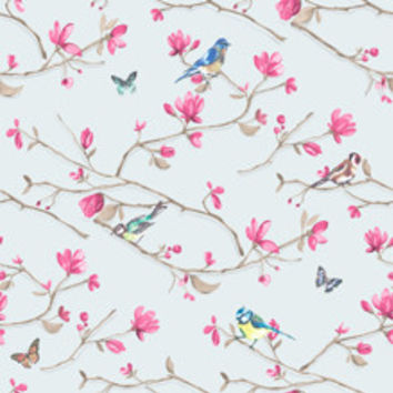 Holden Decor Wallpaper - Kira  -  Blue Pink - Statement - Paste The Wall - 98123
