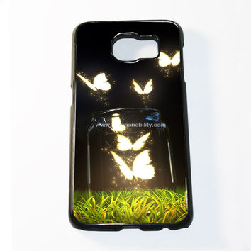 Glowing Butterflies Samsung Galaxy S6 and S6 Edge Case