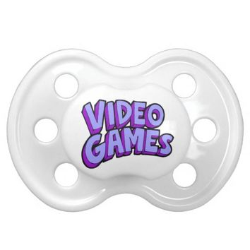 Video Games Gaming Gamer Baby Pacifier