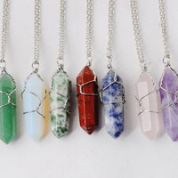 Cradled Crystal Necklace