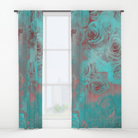 flower 24 roses #flowers #roses Window Curtains by jbjart