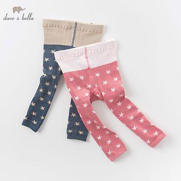 DB6288 dave bella autumn winter infant baby girls lolita printed leggings children leggings