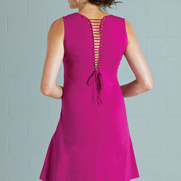 Organic Cotton Laced Back Dress - Salsa
