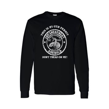 Unisex Long Sleeve Shirt Don't Tread On Me 2nd Amendment