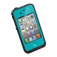 Napama Iphone 4 4s Case Waterproof Dirtproof SnowProof Protection Cover (Teal)