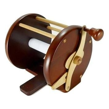 Beautiful Wooden Toilet Paper Fishing Reel Lodge Camp Decor Hunting Cabin cave