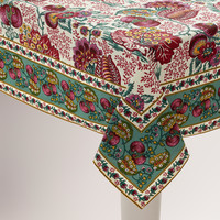 Pomegranate Floral Cotton Tablecloth - World Market