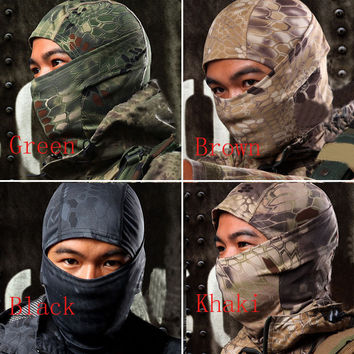 Outdoor Camouflage Tactical Balaclava Masks Full Face Protect Paintball Hunting Airsoft