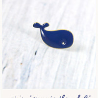 Maggie the whale pin's by Titlee - Bird on the wire