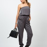 Silky Strapless Jumpsuit