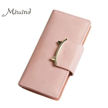 Women Wallets Leather Long Anime Tassel Fringe Card Holder Coin Photo Phone Dollar Price 2017 Clutch Female Cat Purse Designer
