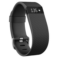 Fitbit Charge HR Wireless Heart Rate and Activity Wristband in Black