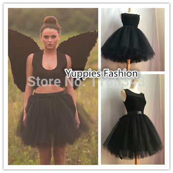 "Sale! Yuppies Fashion Women Tulle Skirts 7 Layers 19.6"" Long All Colors Adult Tutu Ball Gown Bolsas Saias Femininas Vestidos"