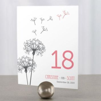Dandelion Wishes Table Number Numbers 1-12 Periwinkle (Pack of 12)