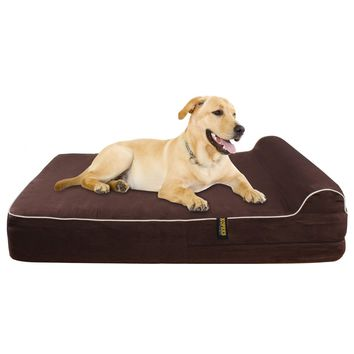 Dog Bed Orthopedic Memory Foam With Pillow Waterproof Inner Protector Extra Large
