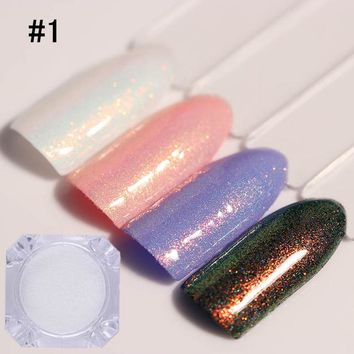 BORN PRETTY 1.5g Chameleon Mermaid Nail Powder Chrome Pigment Manicure Glitters Fairy Dust Nail Art Decorations