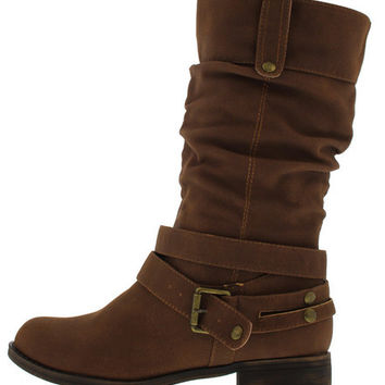 MATHEW3W BROWN SLOUCH MID CALF BOOT
