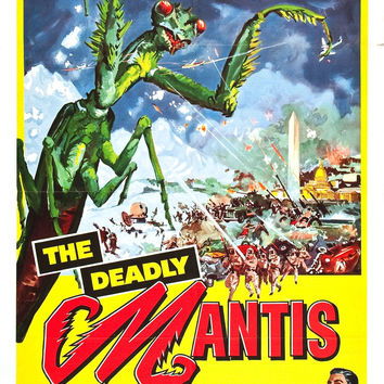 Deadly Mantis Horror Movie Poster