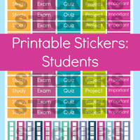 Student Planner Stickers, Student Stickers, College Student Planner, Exam Planner Stickers, Erin Condren Planner Stickers, Printable Sticker