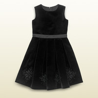 Gucci - kid's velvet dress with snowflake embroidery 367188ZB7631000