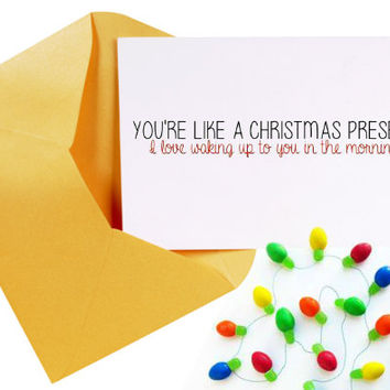 Funny Christmas Card/ Boyfriend Christmas Card/Christmas Humor/Stocking Stuffer/Christmas Gift Ideas/Relationship