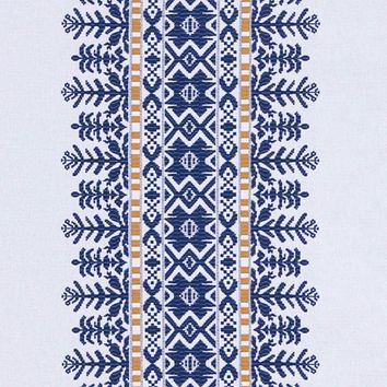 Robert Allen Fabric 228054 Aztec City Cobalt