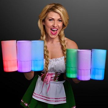 Tall Glow Mug Beer Stein with Multicolor LEDs (Set of 4)